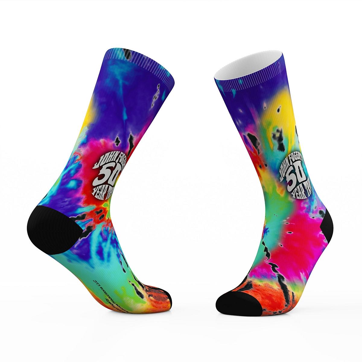 John Fogerty 50 Year Trip Tie Dye Crew Socks