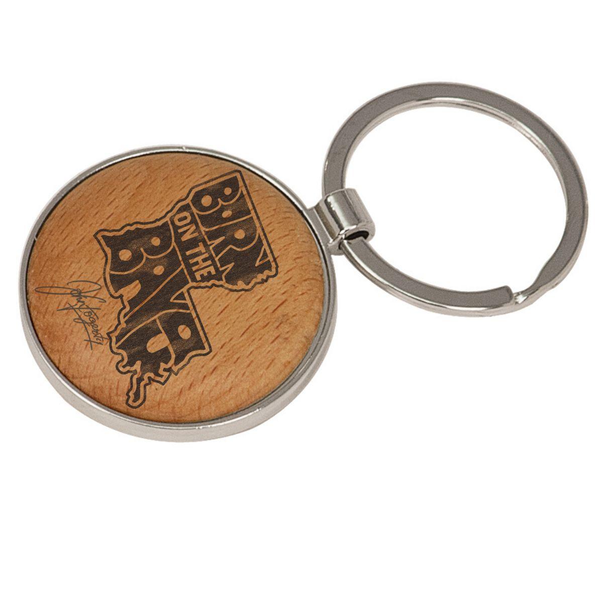 Born On The Bayou Maple Keychain