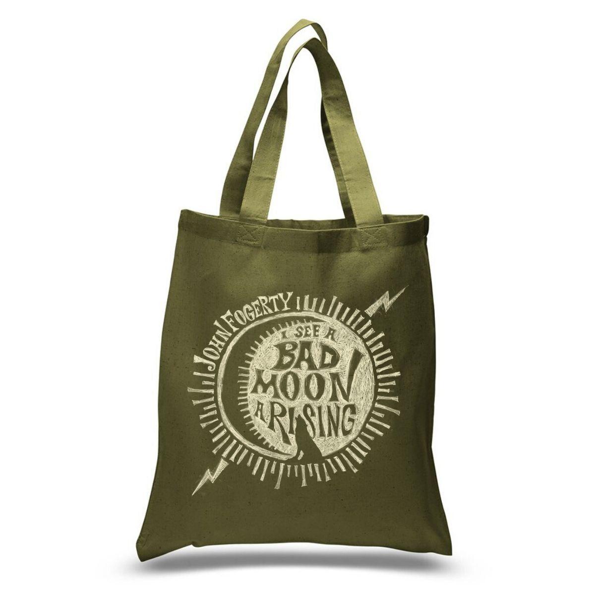 Bad Moon Wolf Tote Bag