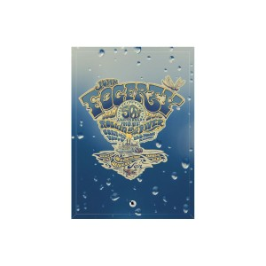 50th Anniversary Crest Rain Glass Print