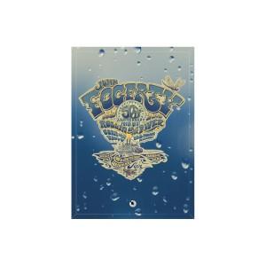 50th Anniversary Crest Rain Glass Print