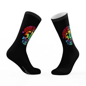 John Fogerty 50 Year Trip Black Crew Socks