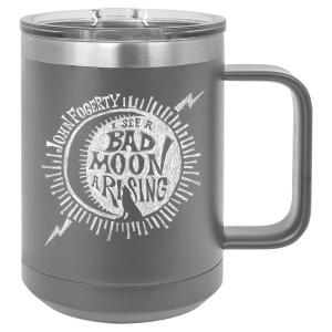 Bad Moon Wolf Laser Engraved Travel Mug