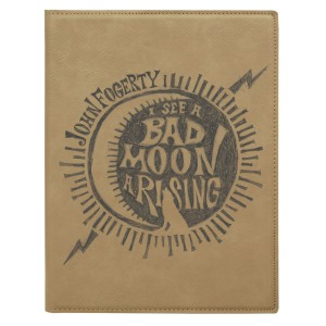Bad Moon Wolf Laser Engraved Journal