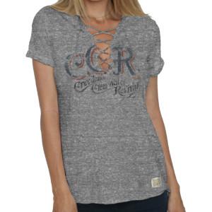 CCR Ladies Brush Lace Up T-shirt