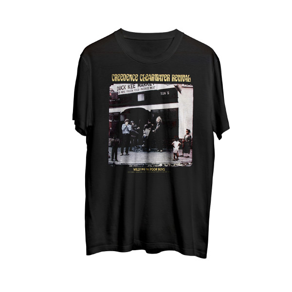 Creedence Clearwater Revival Willy And The Poor Boys Back Print Adult T-Shirt