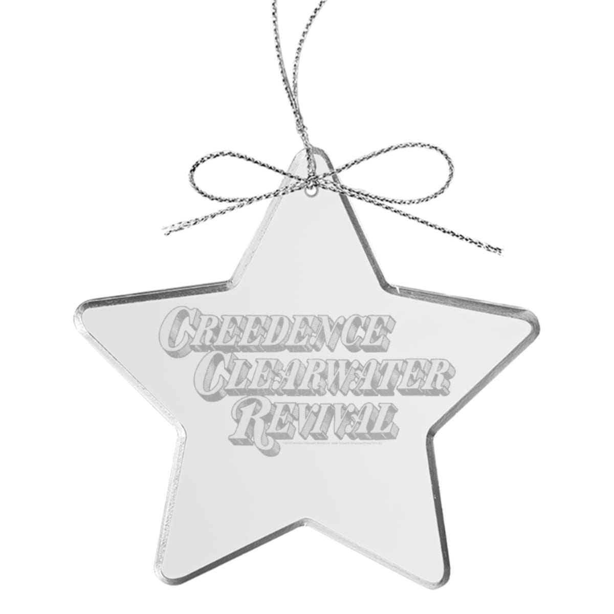 Stampede Star Laser-Etched Glass Ornament