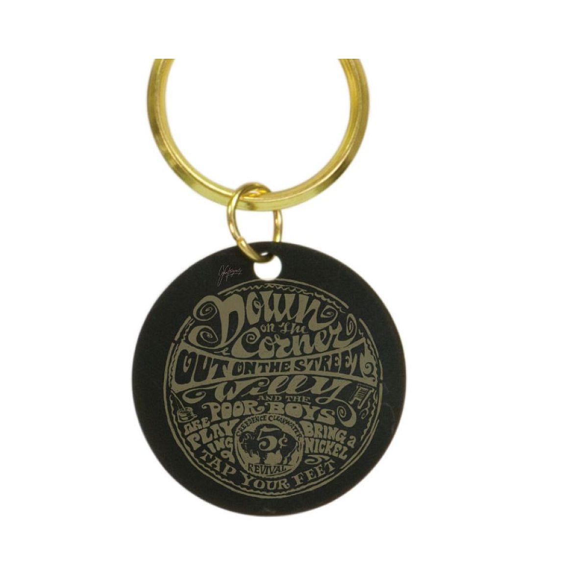 Down On The Corner Brass Keychain