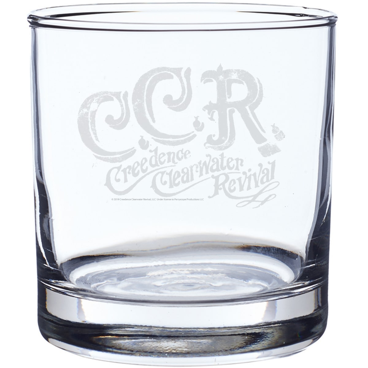 CCR Script Logo Laser-Etched Whiskey Glass