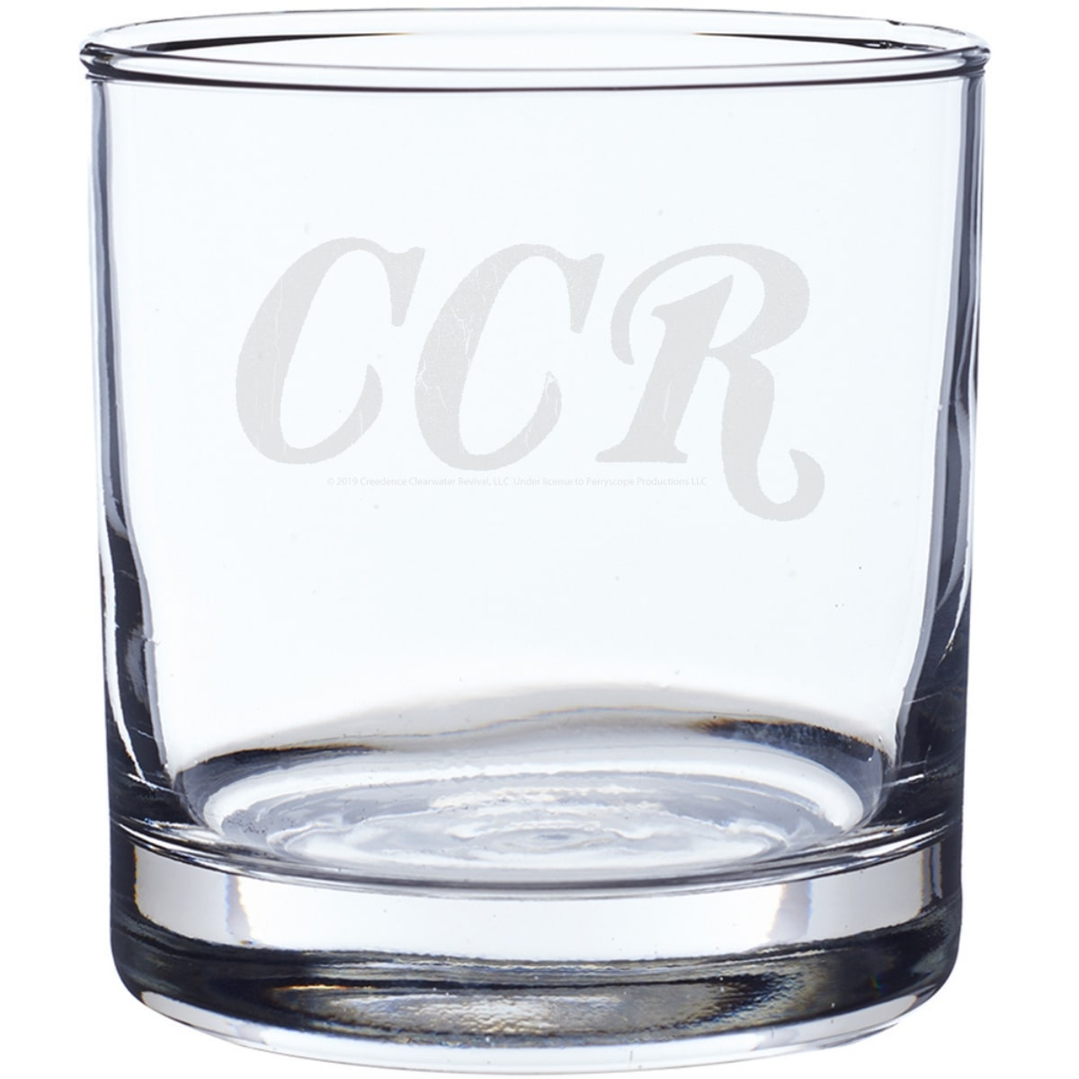 CCR Logo Laser-Etched Whiskey Glass