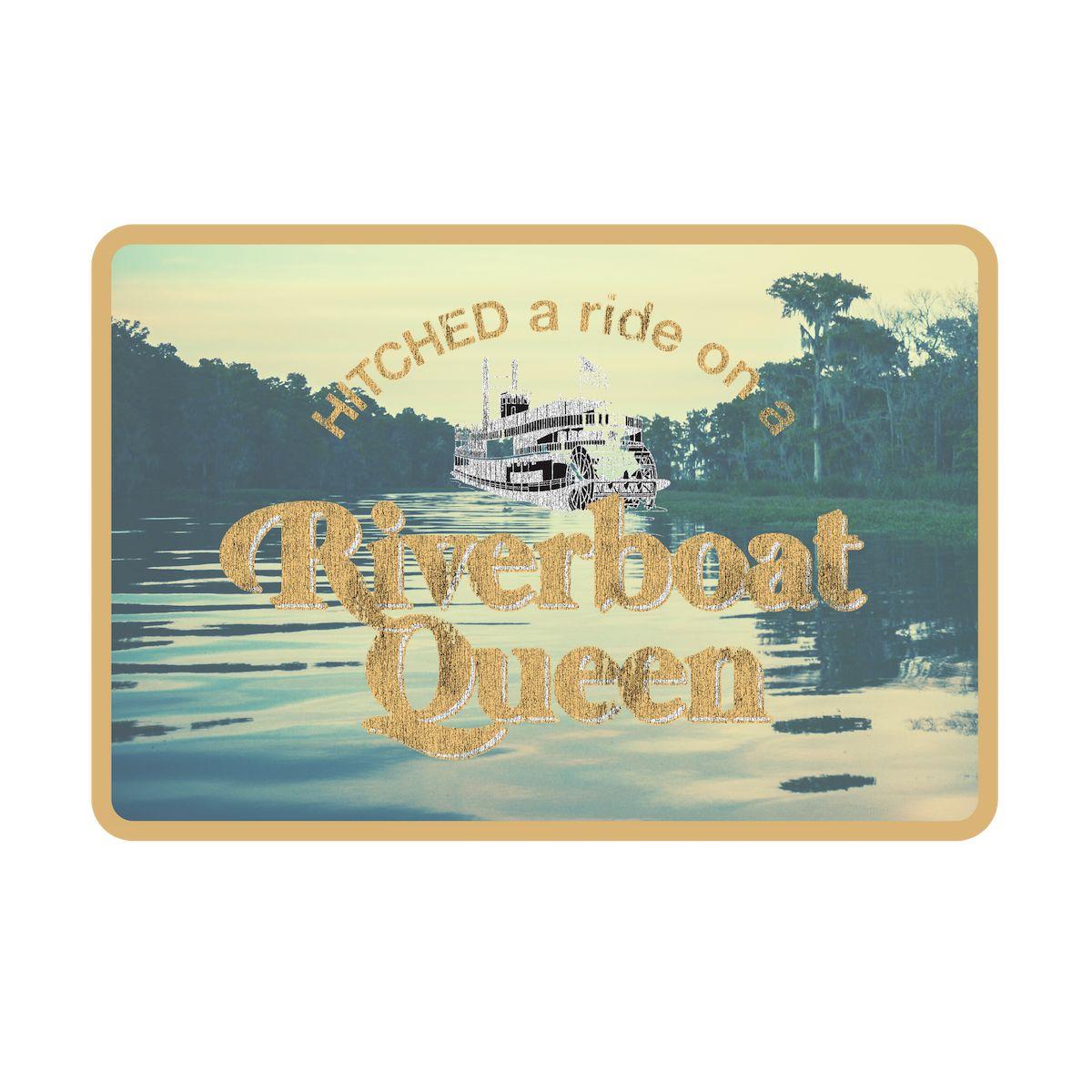 Riverboat Queen Vintage Metal Wall Sign
