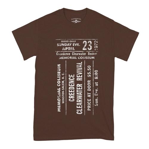 CCR Concert Ticket T-Shirt - Classic Heavy Cotton