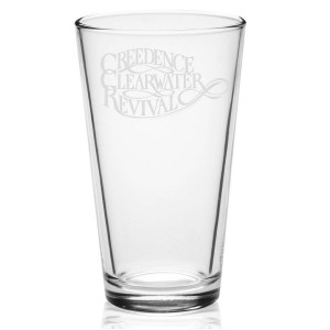 Scripted Etched Pint Glass