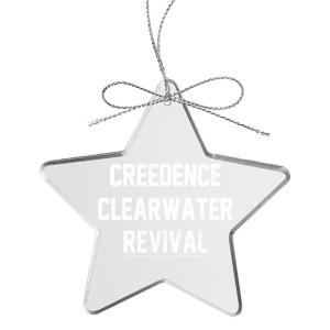 Collegiate Logo Star Laser-Etched Glass Ornament