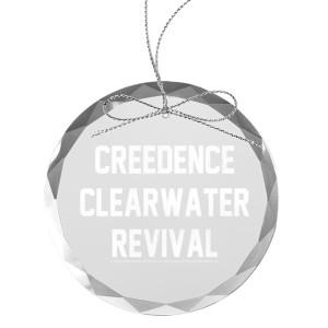 Collegiate Logo Round Laser-Etched Glass Ornament