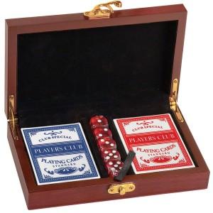 Stampede Logo Laser Engraved Rosewood Card & Dice Box