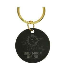 Bad Moon Sun Brass Keychain