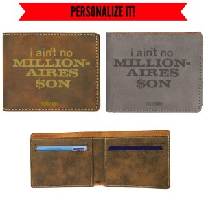 Millionaire's Son Vegan Leather Wallet