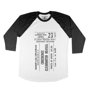 CCR Concert Ticket Baseball T-Shirt