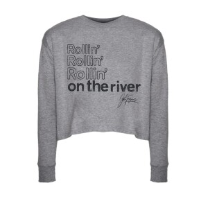 Rollin' On The River Long Sleeve Crop Top
