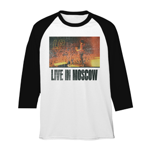 LP- Live in Moscow White and Black Raglan T-shirt
