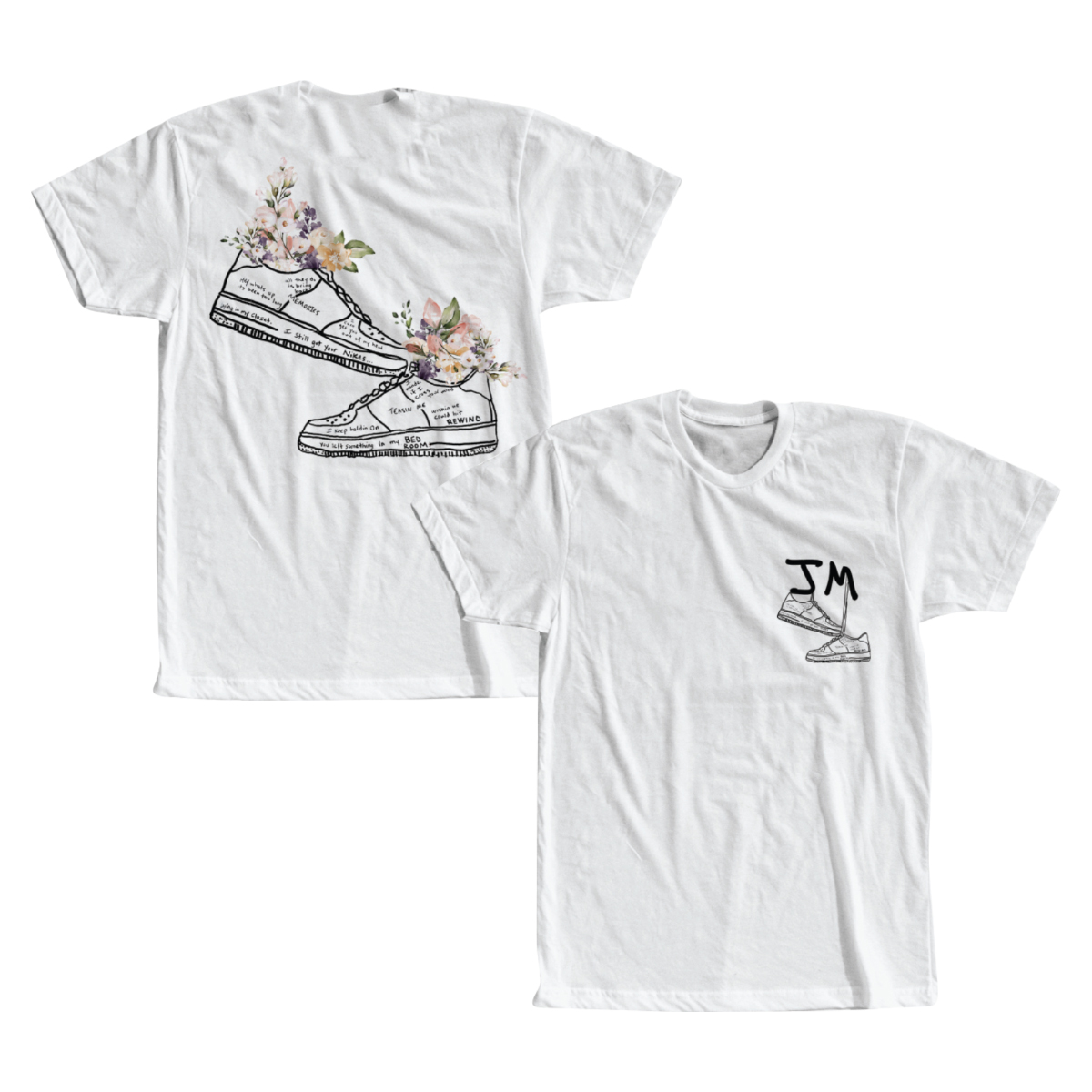 WHITE NIKES T-SHIRT
