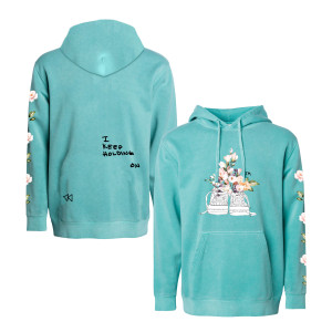 MINT COLORED NIKES PULLOVER HOODIE