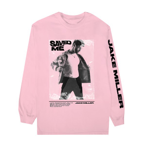 SAVED ME Pink Long Sleeve + Digital Single Download