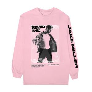 SAVED ME Pink Long Sleeve + Digital Single Download