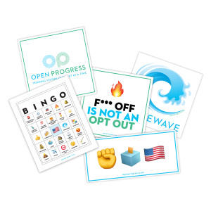 Open Progress Text Troop Sticker Pack