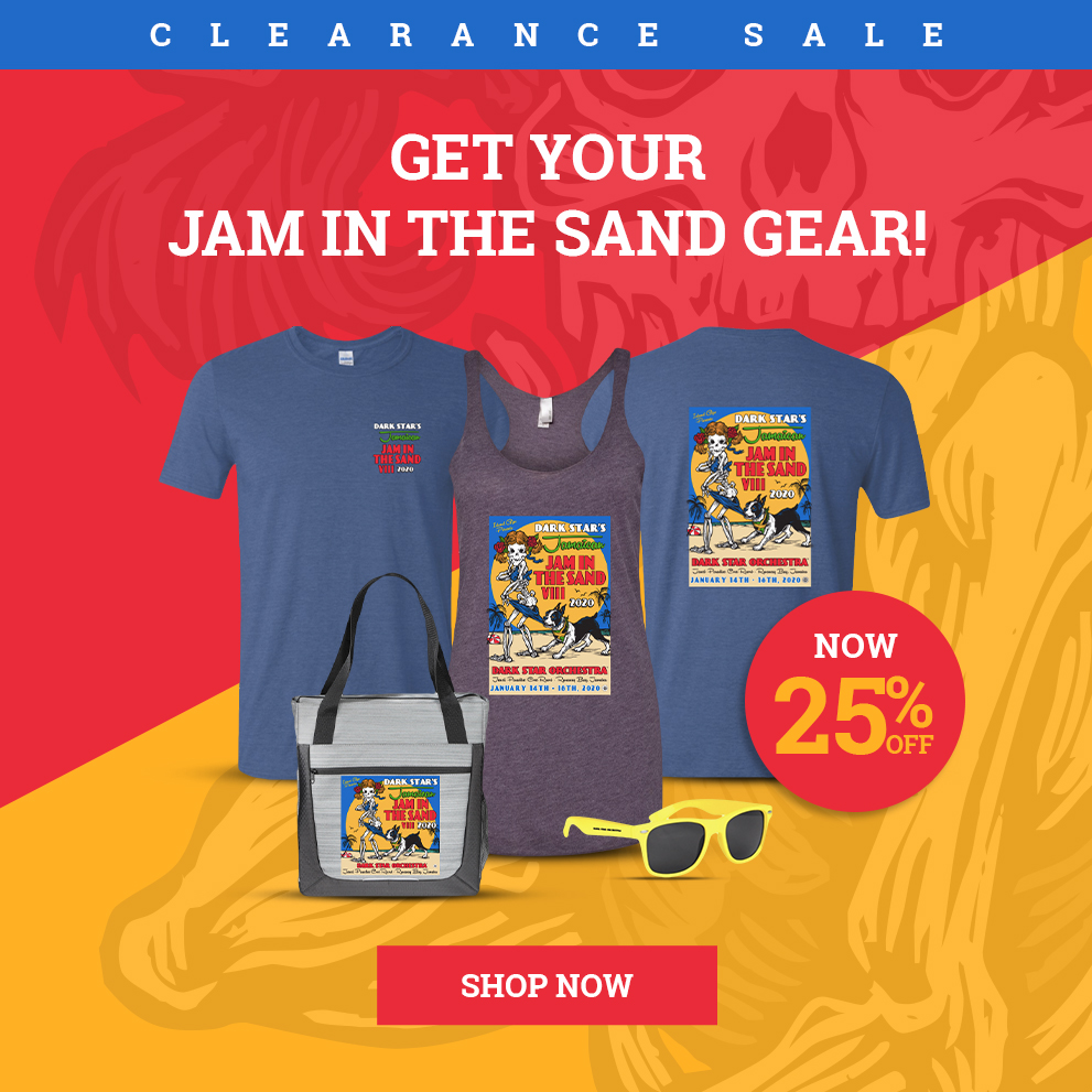 Jam In The Sand Merch Clearance Sale