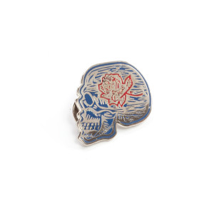 DSO Vintage Skull Logo Pin