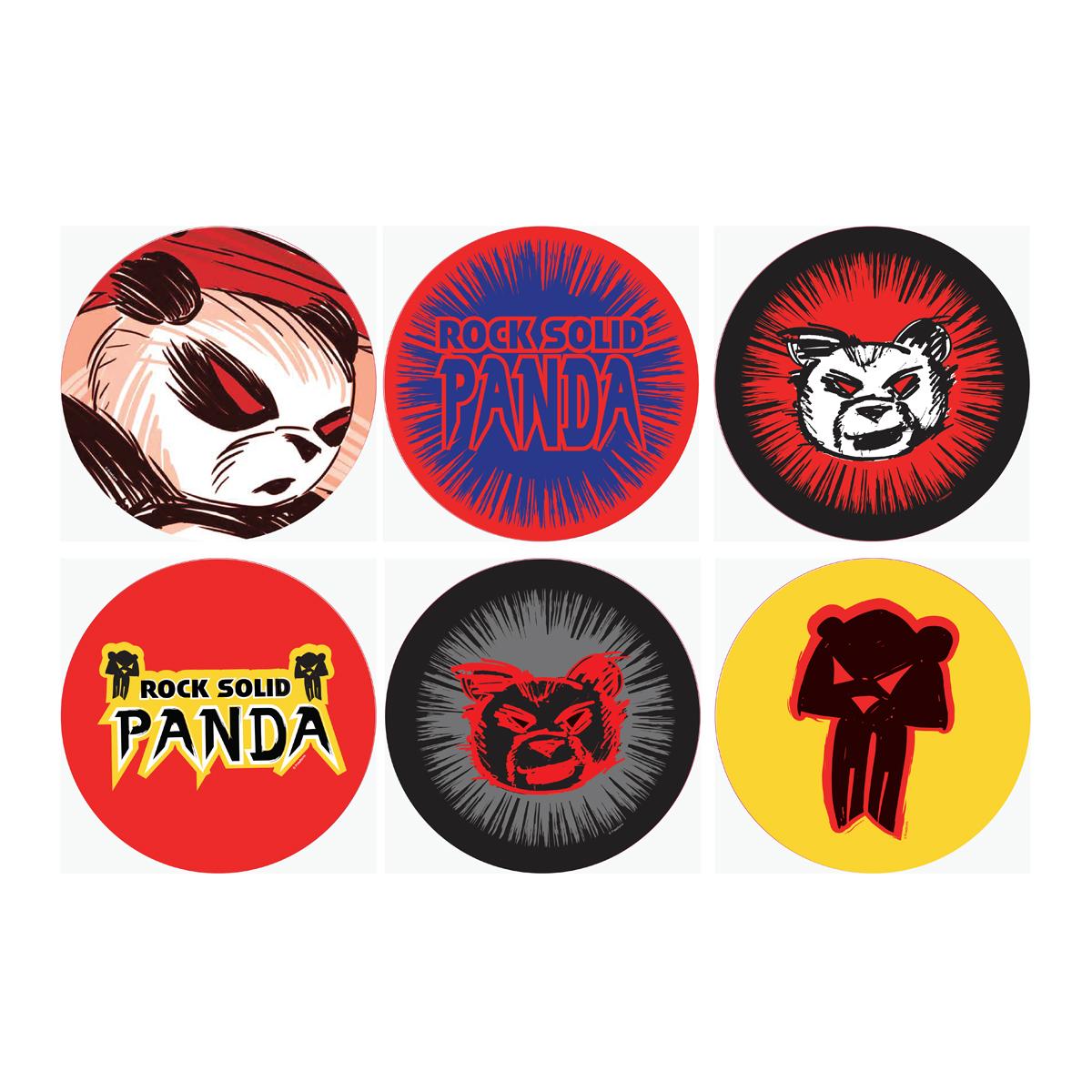 Shadowhunters Rock Solid Panda Sticker Set