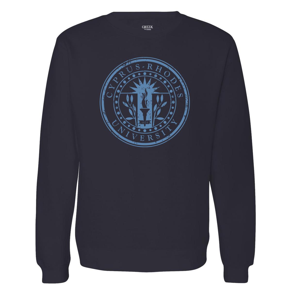 Greek Cyprus Rhodes University Crewneck Sweatshirt