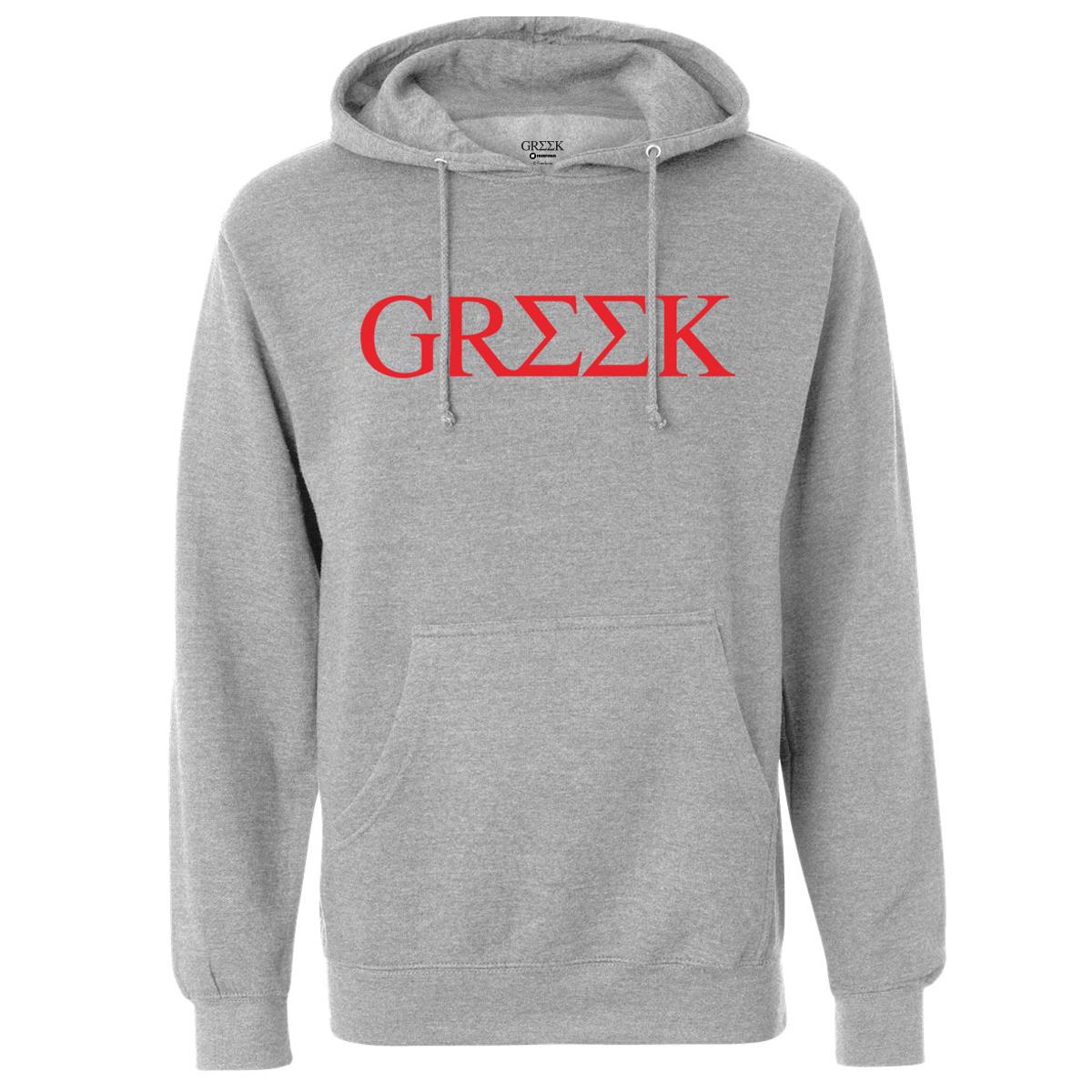 Greek Logo Pullover Hoodie