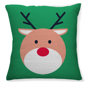 25 Days of Christmas Reindeer Throw Pillow (16x16)