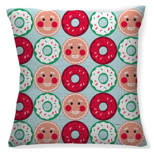 25 Days of Christmas Gingy Throw Pillow (16x16)