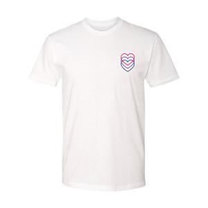 Hearts T-Shirt Bi Pride