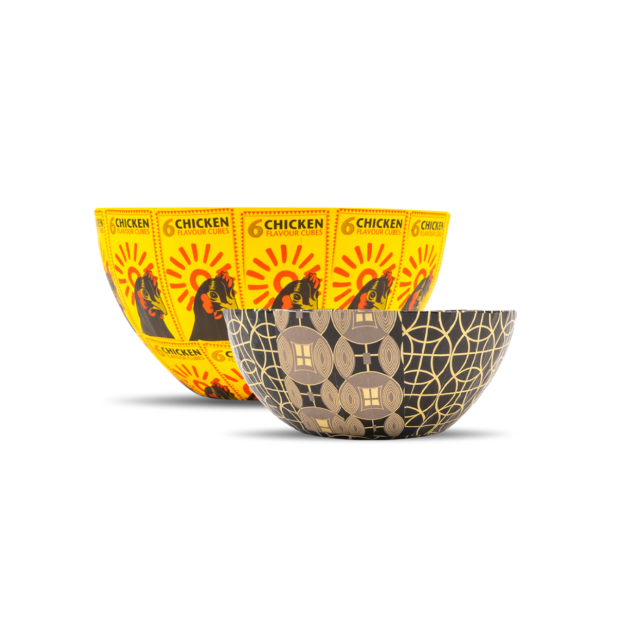 Wola Nani, South Africa: Nesting Paper Maché Bowls – Chicken
