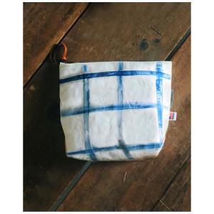 Eighth Belle: Cobalt Grid Samson Zip Pouch