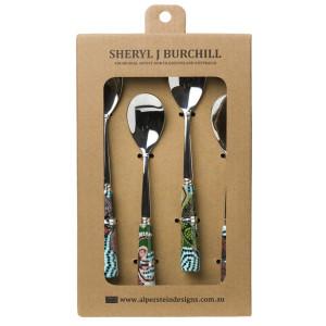 Alperstein Designs -- Australia: Rainforest Tea Spoon Set