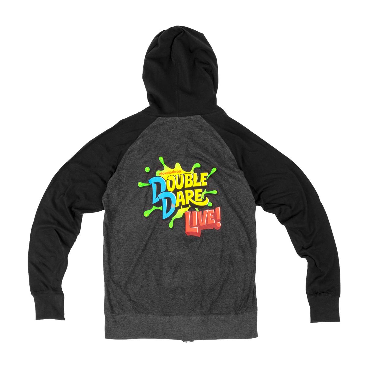 Double Dare Live Zip Hoodie - Charcoal & Black