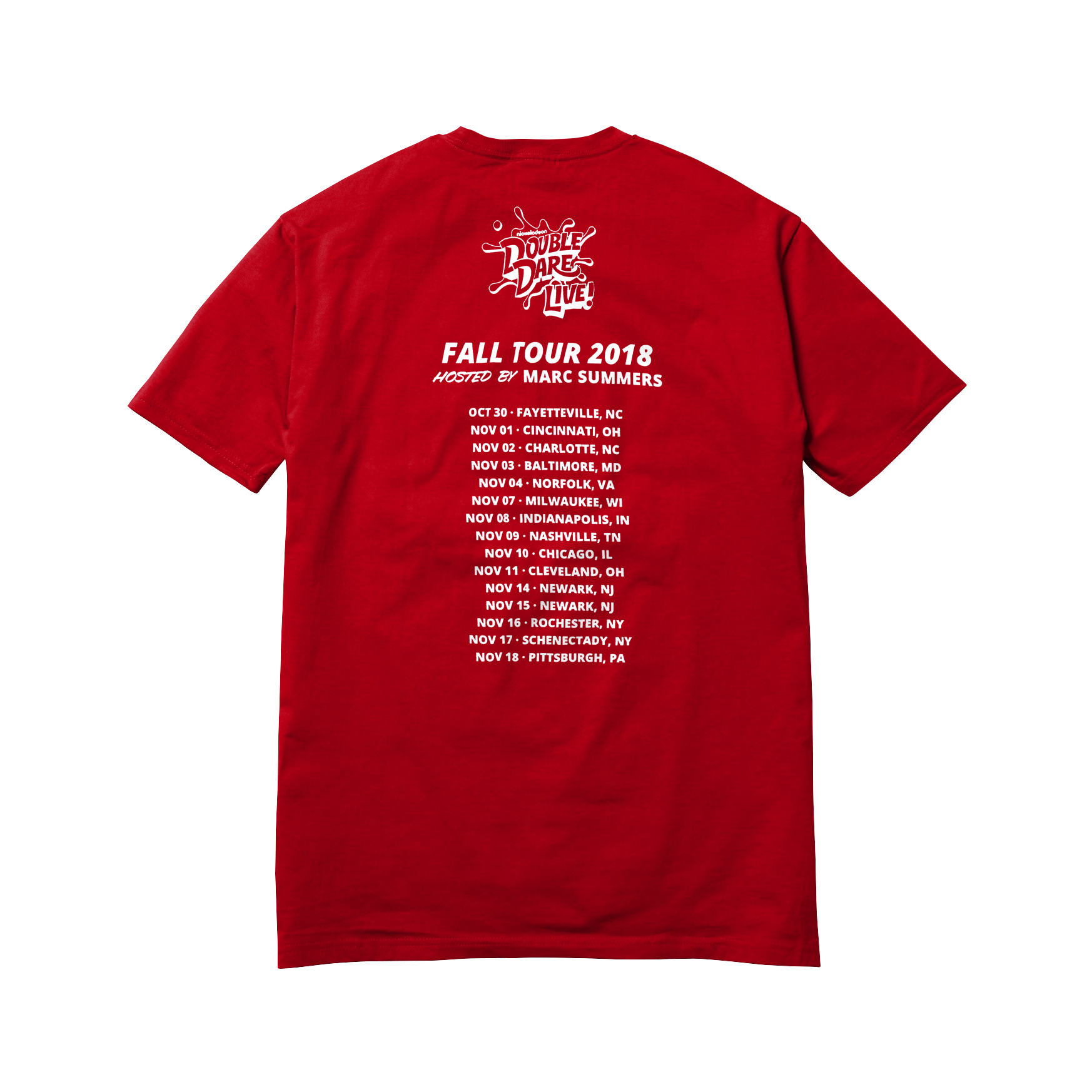 Double Dare Live Fall 2018 Tour Tee - Red