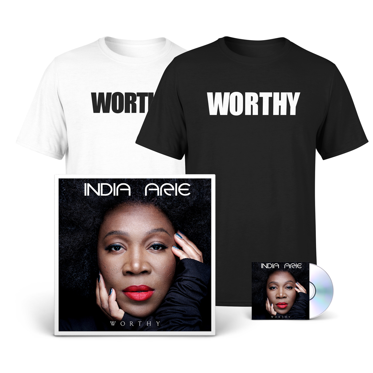 Autographed Worthy Deluxe T-shirt Bundle