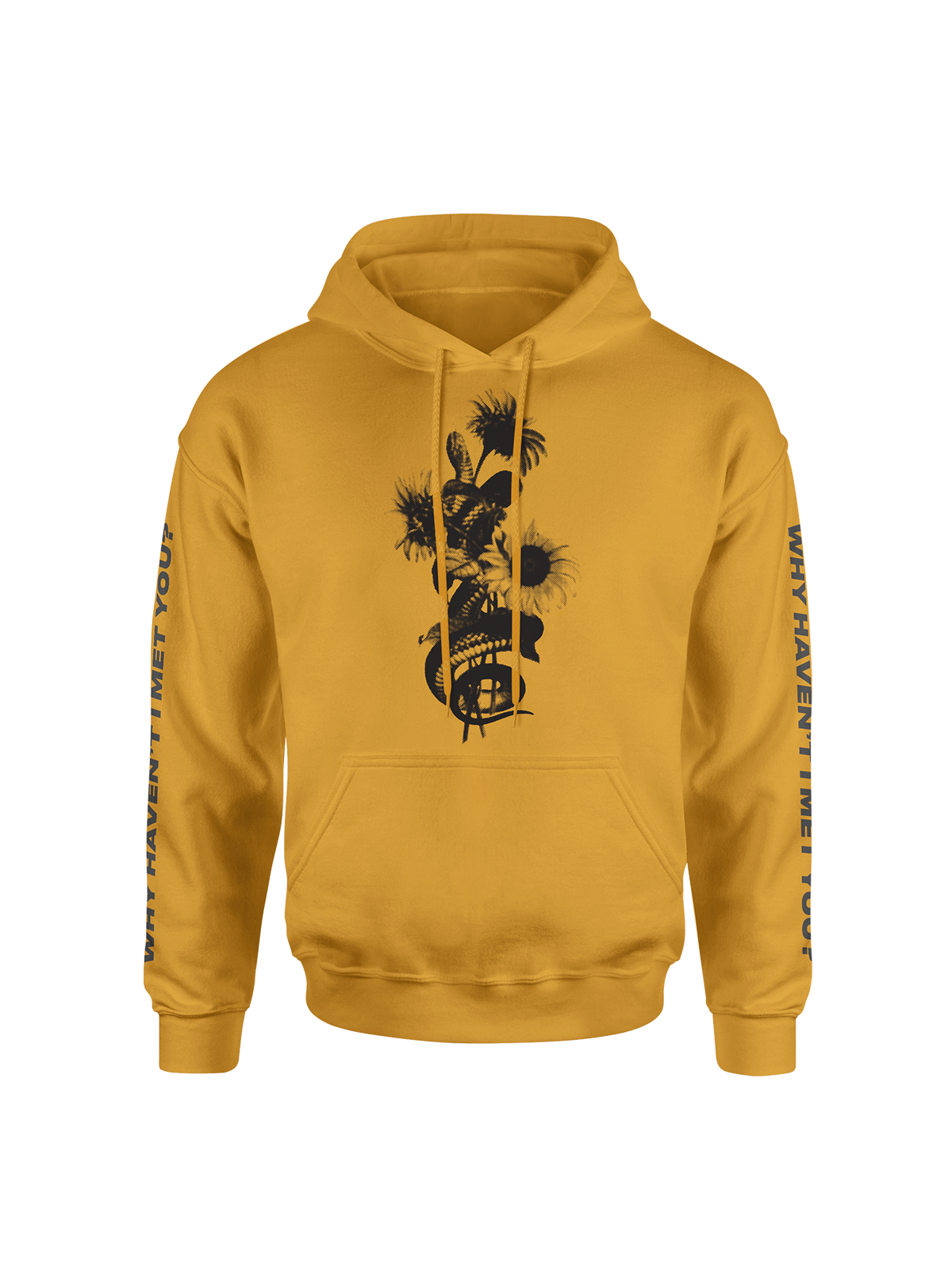 WHIMY Gold Sunflower Hoodie