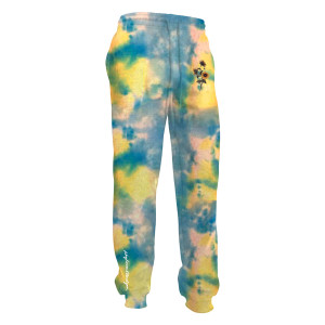 WHIMY Blue Tie Dyed Sunflower Sweatpants
