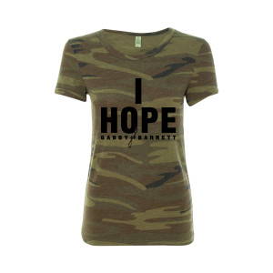 "Gabby Barrett ""I Hope"" Ladies Camo Tee"