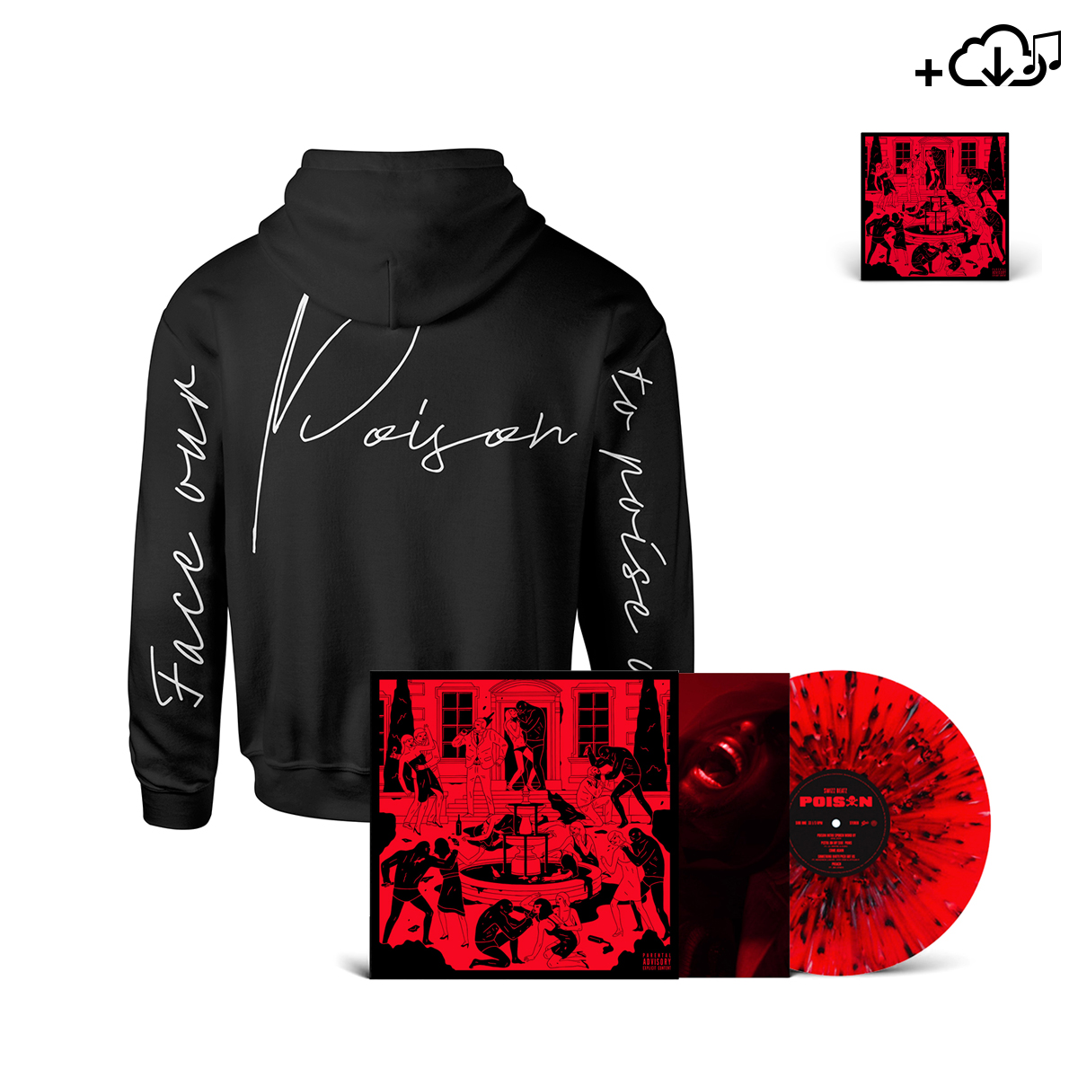 POISON COVER PULLOVER HOODIE, VINYL & DOWNLOAD