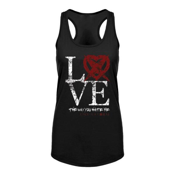 3b60456d8ed Like a Storm - Ladies Love Black Tank Top