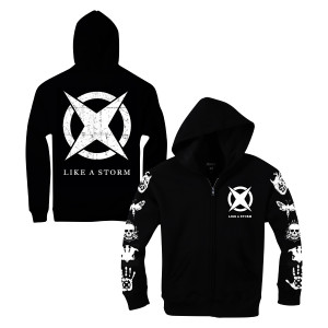 Like A Storm - Black Logo Pullover Hoodie